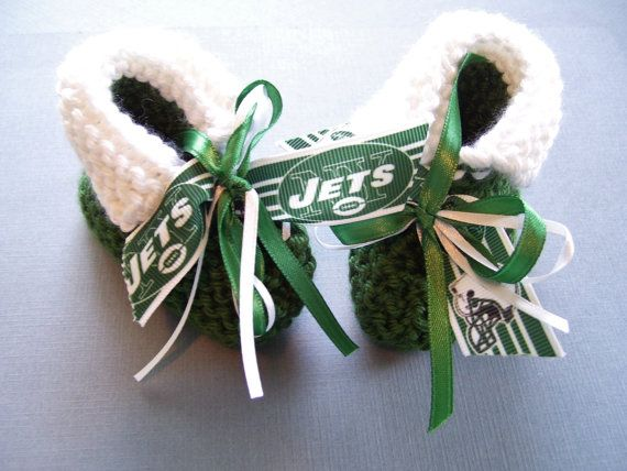 New York JETS Football Fans Handmade Baby Booties by ZZsTeamTime, $10.00