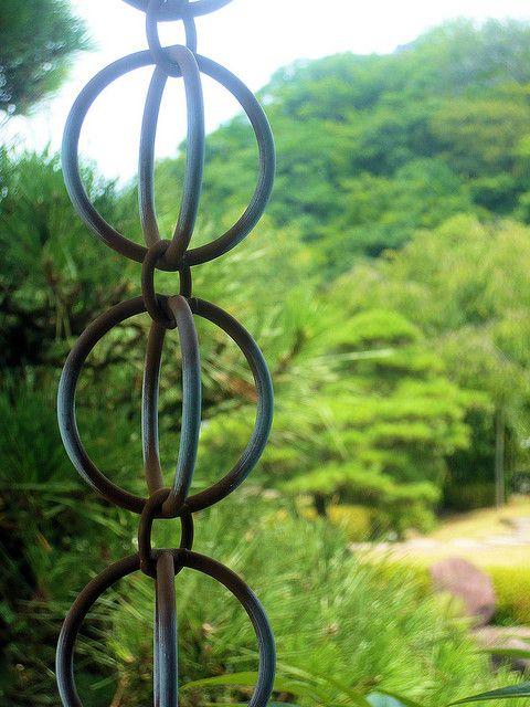 Japanese rain chain...so much prettier than a water spout