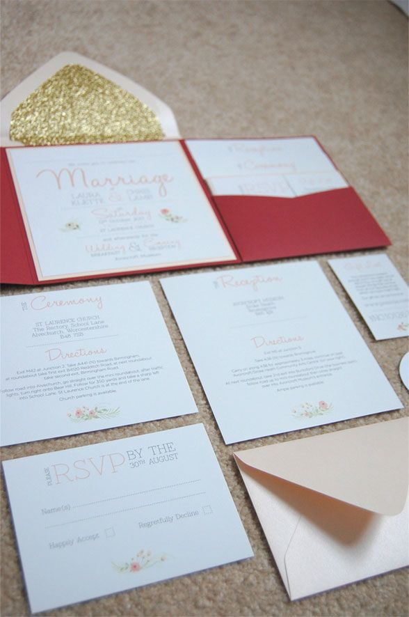 Real DIY Wedding Invitation Suite Hopefully