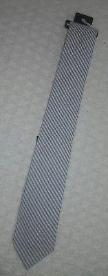 Express Men's Seersucker Tie, Brand New, Blue and White