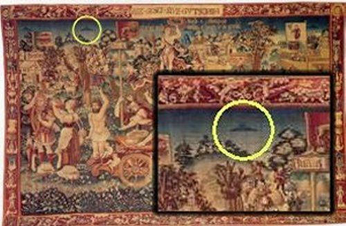 Several Ancient UFOs Depicted On The Summer's Triumph Tapestry - MessageToEagle.com