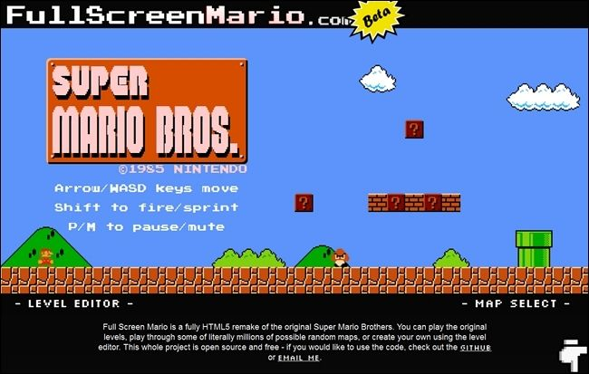 Play a Complete HTML5 Version of Super Mario Bros. Online for Free