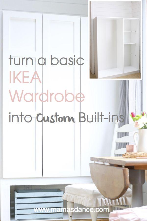 Turn A Basic Ikea Dombas Wardrobe Into Custom Built Ins Via This Mamas Dance