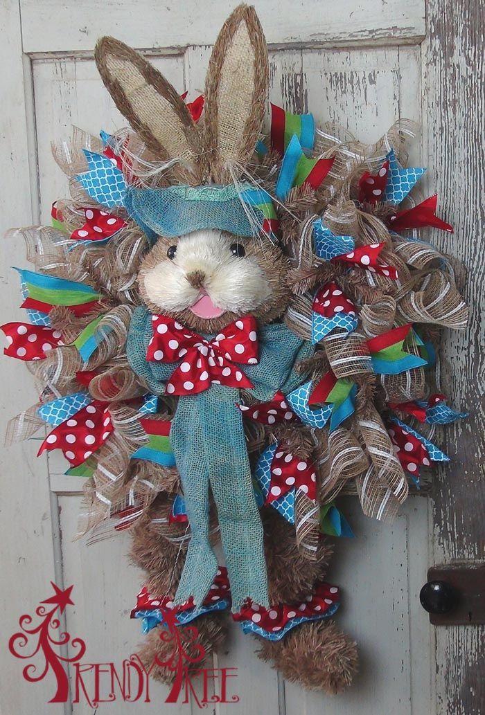 bunny-wreath-legs-door-2 - Now this is a super cute Easter wreath.