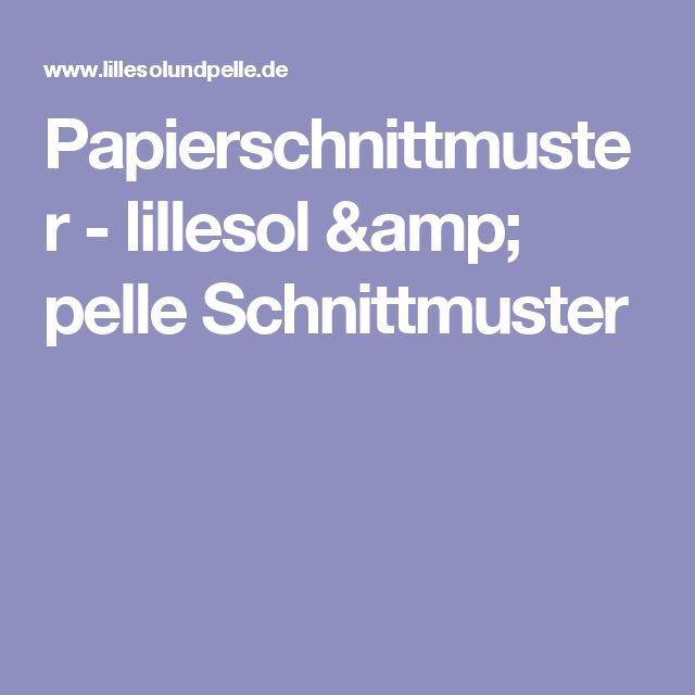 Papierschnittmuster - lillesol & pelle Schnittmuster