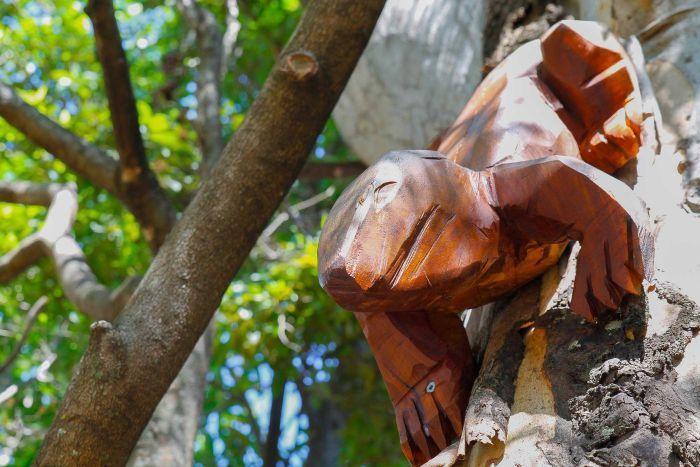 Wooden goanna