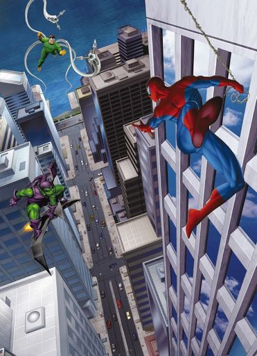 Spiderman and Villains Photomural
