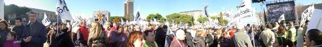 Manifestación por los derechos de las personas con discapacidad el 02/12/12 - Pl. Colón, Madrid (España)
