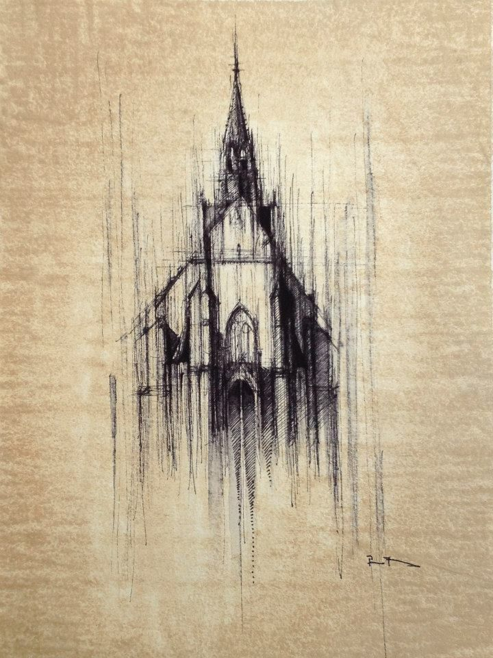 Ink And Coffee Architectural Drawings By Pavel Filgas http://designwrld.com/architectural-drawings-pavel-filgas/