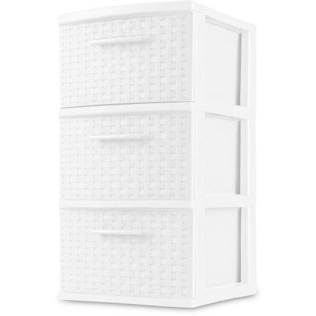 Free 2-day shipping on qualified orders over $35. Buy Sterilite 3-Drawer Weave Tower, White (Available in Case of 2 or Single Unit) at Walmart.com
