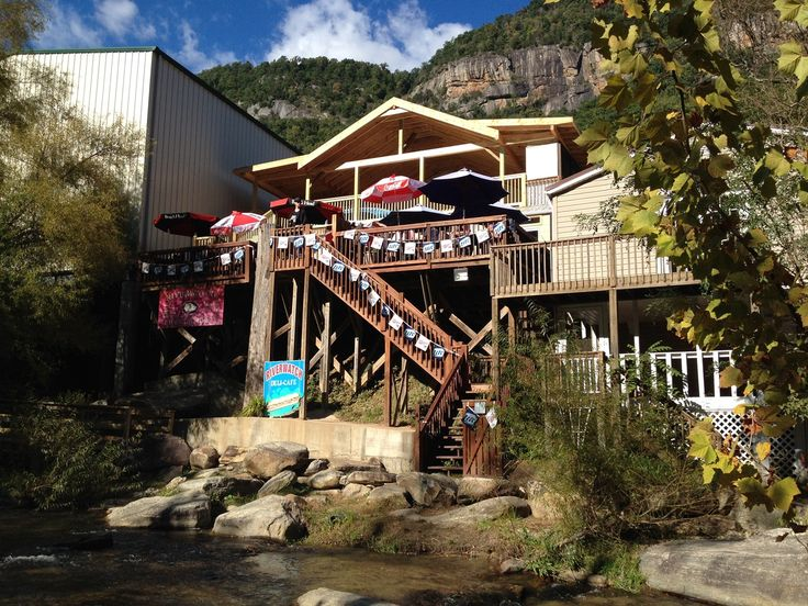 Riverwatch Bar And Grill In the heart of Chimney Rock Village, NC.  Worth the wait!