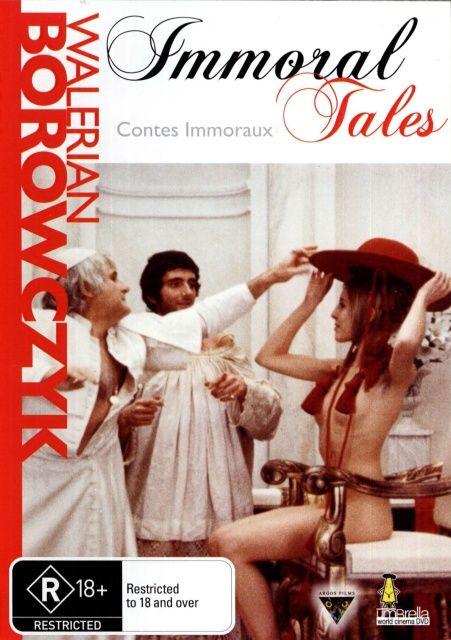 Contes immoraux , 1973 France , by Walerian Borowczyk .  Caesar Borgia (Lorenzo Berinizi) and his sister Lucrezia (Florence Bellamy