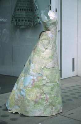Susan Stockwell cartographic dress
