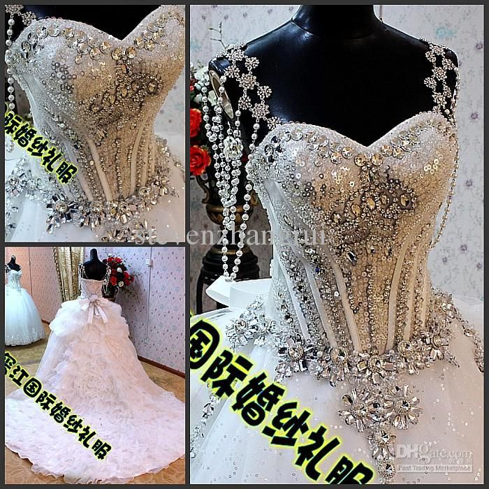 41 best images about wedding dresses on pinterest for Bling corset mermaid wedding dresses