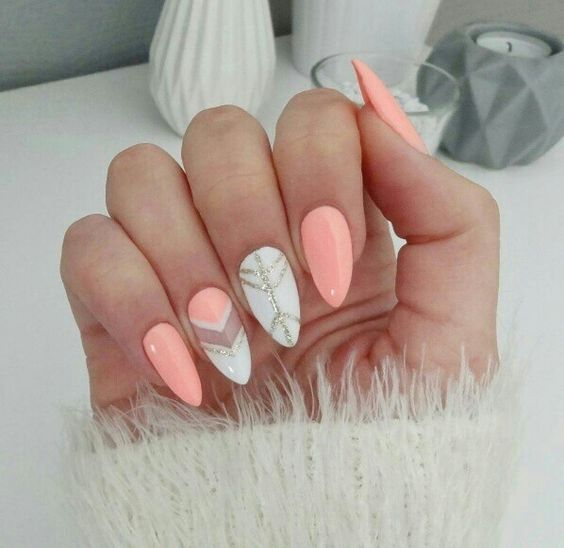 70+ Stunning Designs for Almond Nails You Won't Resist; almond nails long or s…