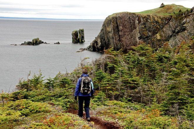 Hiking the Skerwink Trail near Trinity, Newfoundland