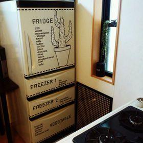 存在感あり過ぎ・・・無機質でインテリアと合わない「冷蔵庫」を自分好みにリメイク! - NAVER まとめ