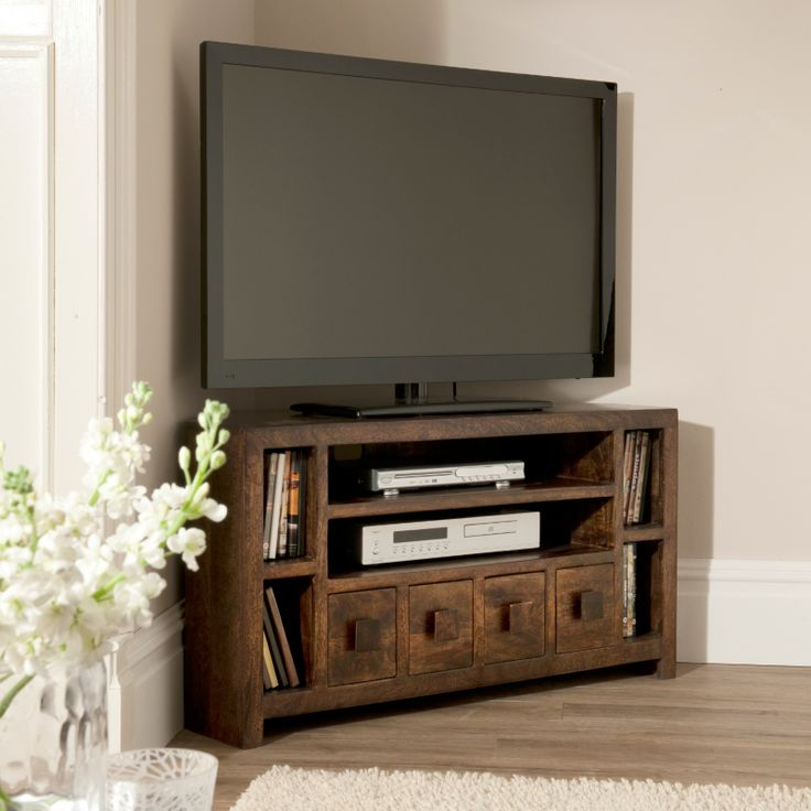 Living room corner tv stand
