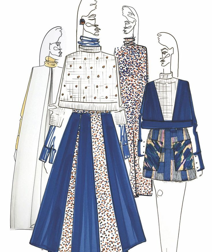 Illustration by Ana Herrera for Anhet design. Collection AW17/18
