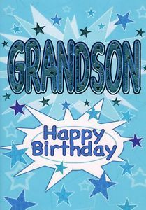 """Happy Birthday Grandson! Out of sight,  does not mean out of """"heart"""". Thinking of you!"""