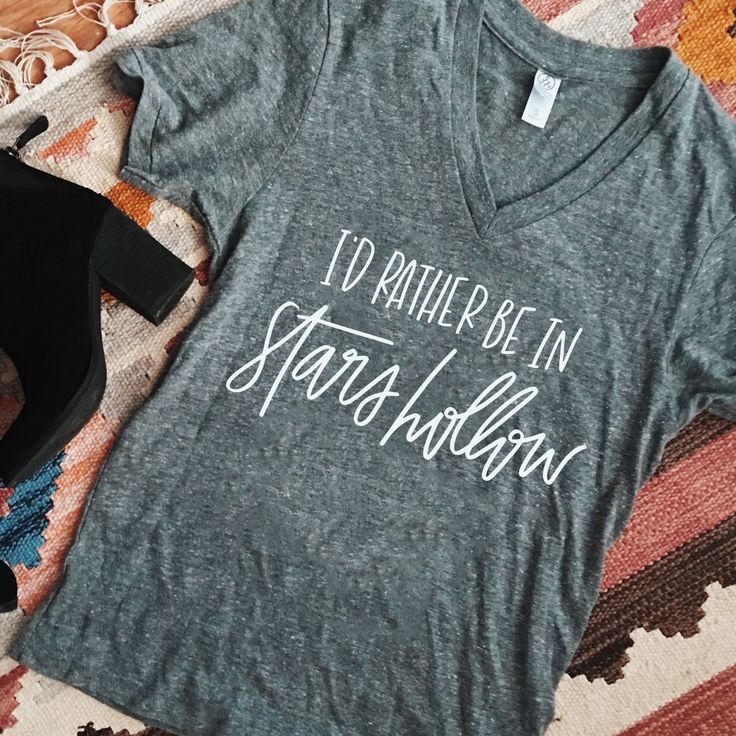 PRE-ORDER This item will ship on or before November 18th. Details When I was writing out Stars Hollow over and over again to make the lettering just right for this tee, I couldn't help but think of th