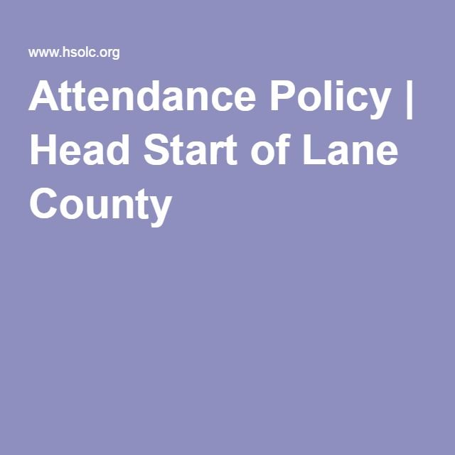 Attendance Policy | Head Start of Lane County