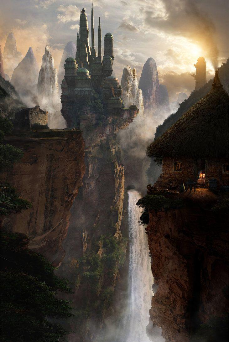 Beautiful Fantasy World Fantasy Castle