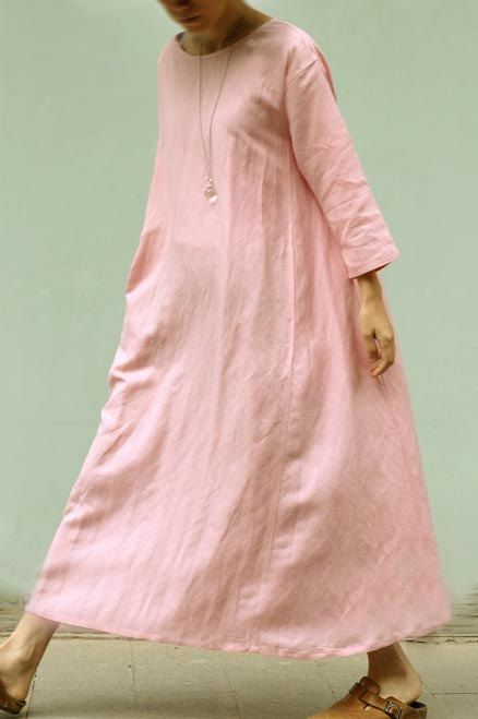 Linen Maxi Dress/Gown Dress 2303 by ladymickey on Etsy