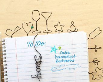 Einzigartige personalisierte Bookmark einzigartige Hochzeit