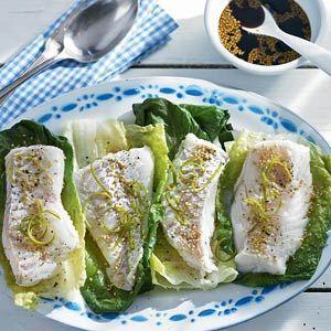 gembersiroop: gestoomde vis met limoen