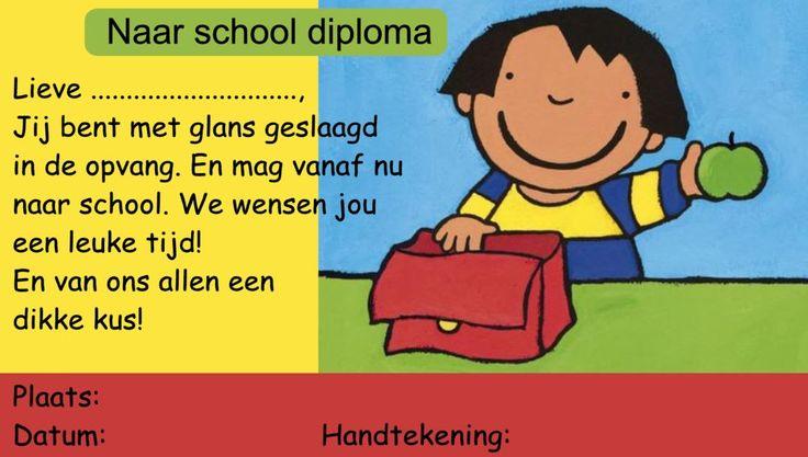 Diploma naar school - meisje