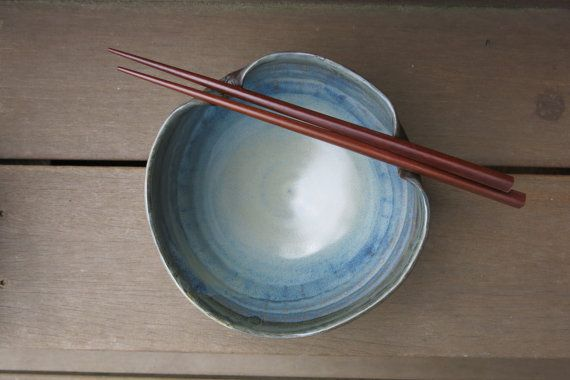 Chop-Stick Ramen Noodle Rice Bowl Handcrafted by ShadyGrovePottery