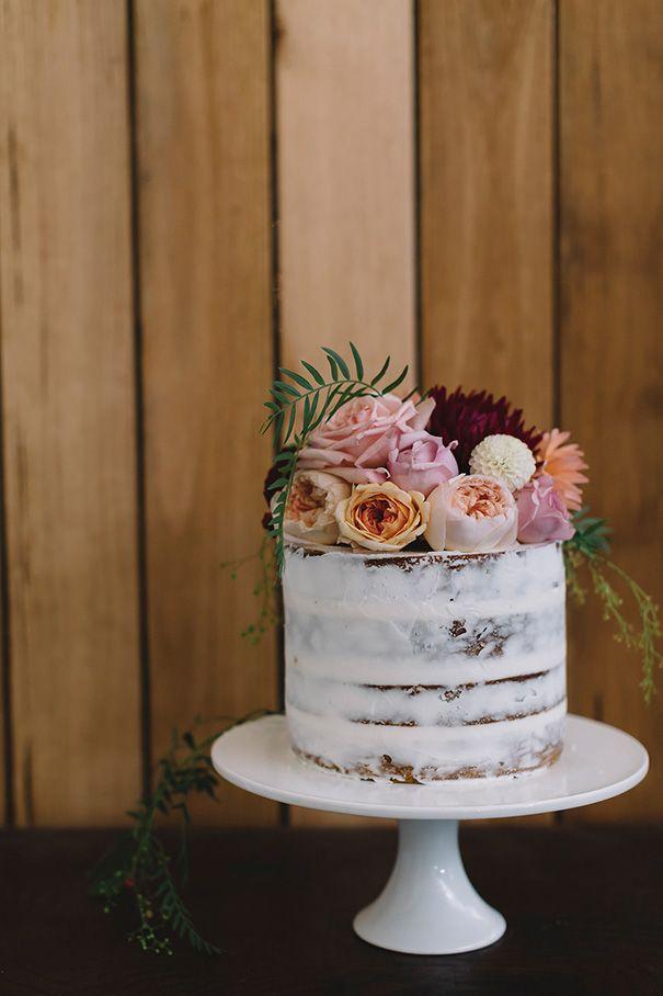 LAUREN STEVE wedding naked cake seminaked cake