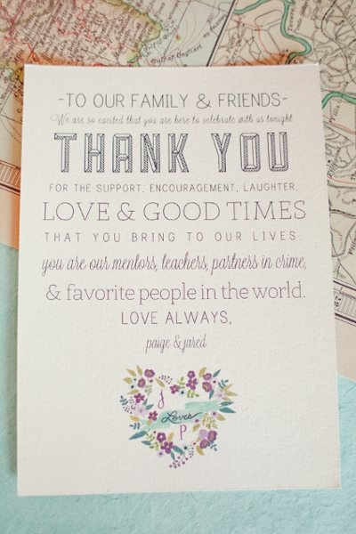 thank you note for your guests heavenly day event coordination weddings