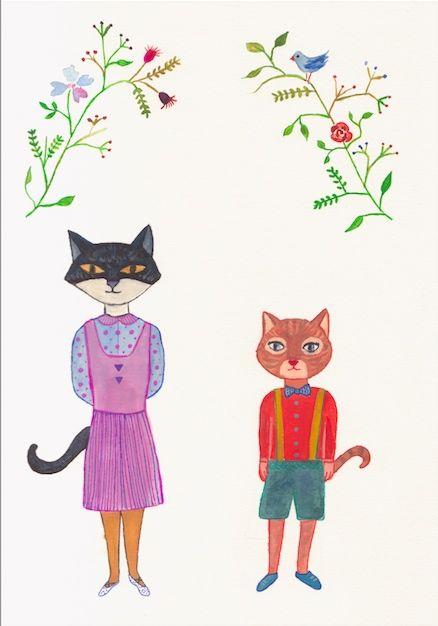 Raluca's cats, Satomi & Werner