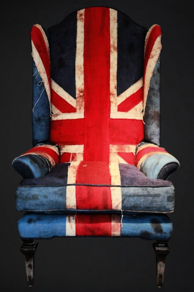 Union Jack Armchair a.k.a something I would use as my throne.... LOL