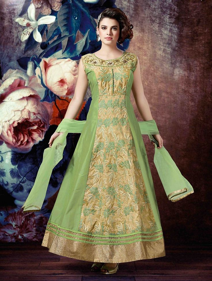 Make the heads flip as soon as you costume up with this charming Parrot Green Silk Unstitched Salwar Kameez. The lovely Lace & Sequins Work work a substantial attribute of this attire.