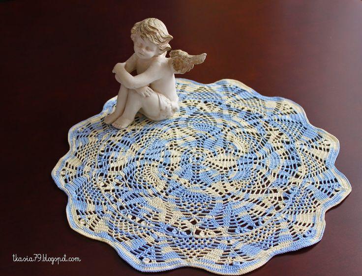 Doily crochet, Limol Multicolor B 12, Diameter 35 cm