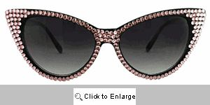 Bling Cat Eye Sunglasses - 159 Pink