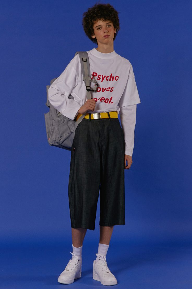 ADER styling Psycho loves cereall t-shirt #ader #adererror #styling #wit #mixmatch #white #oversize @backpack