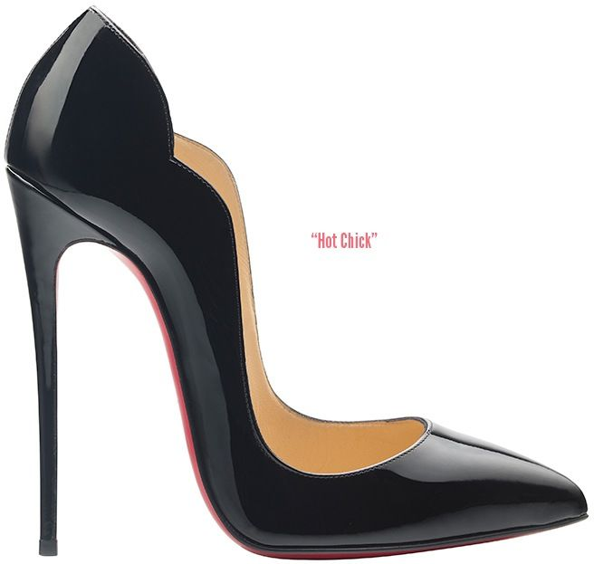 Christian Louboutin 'Hot Chick' Black Pumps Fall 2014 Collection #CL #Louboutins #Shoes