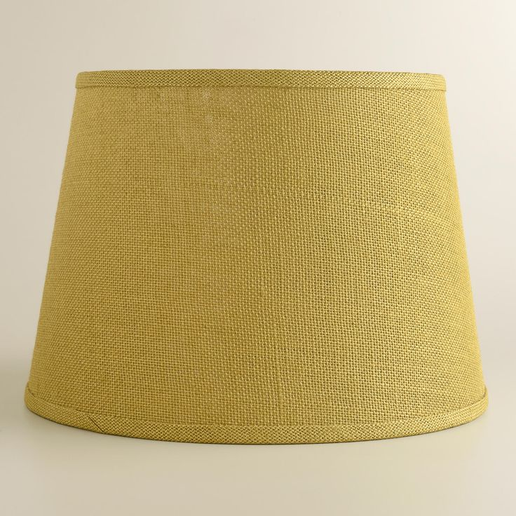 Green Burlap Table Lamp Shade | World Market