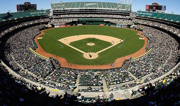 O.co Coliseum, Oakland, California - Home of the Oakland Athletics