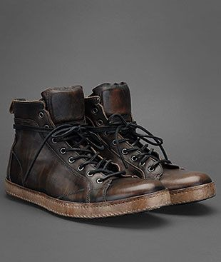 Greatest hi top shoes ever. If I had them, my license plate would say FRESH and I would have dice in my mirror.  http://www.johnvarvatos.com/Artisan_Lace_Sneaker/pd/np/12/p/3552.html