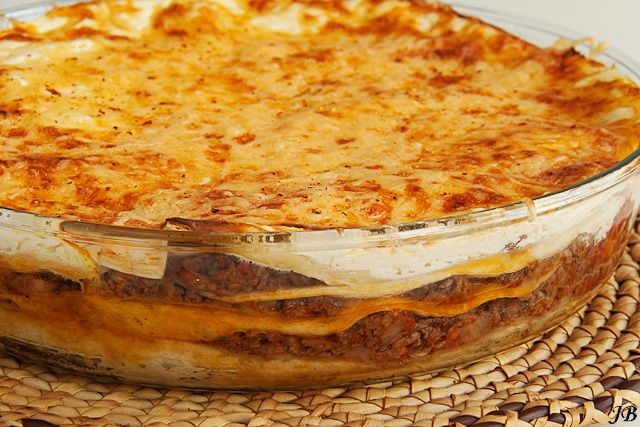 Mexican lasagna- it's almost winter!  Time for some yummy fattening comfort foods!