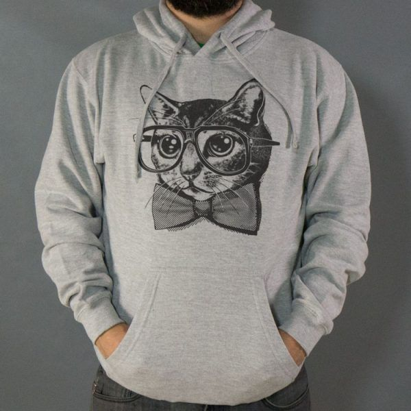 Nerd Cat Hoodie | 6Dollar Shirts | Discover the Perfect Gift