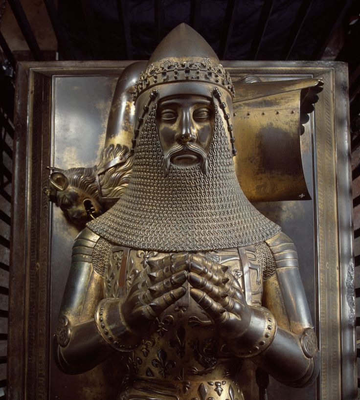 The Black Prince, Canterbury Cathedral, Kent, England, 14th Century sculpture.