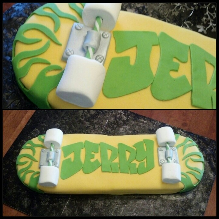 Skateboard Cake by Kupcake Kouture Designer Desserts. #skateboardcake