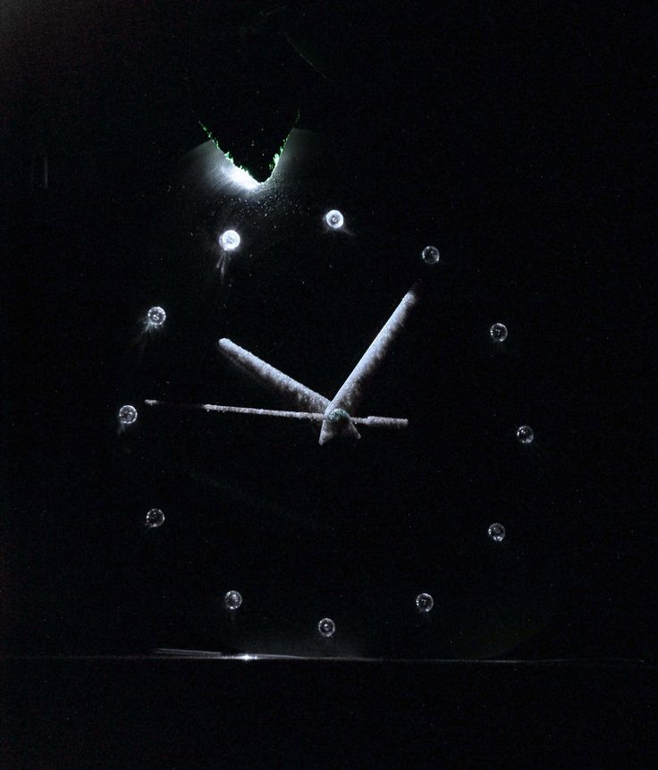Clock with backlight.