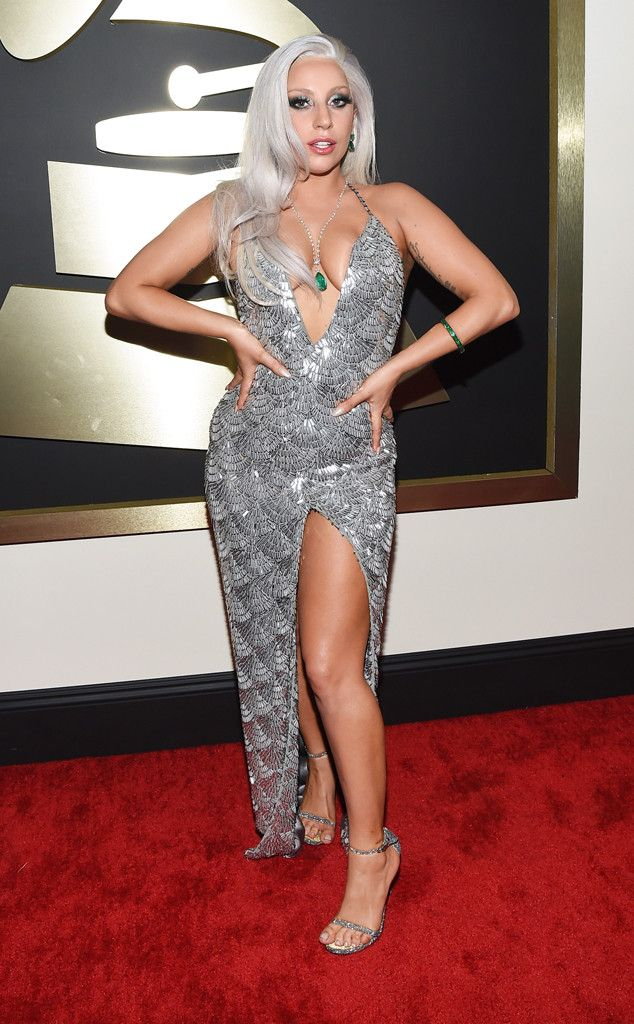 Lady Gaga from 2015 Grammys: Red Carpet Arrivals  InBrandon Maxwell #2015grammys #redcarpet #ladygaga